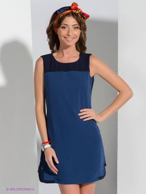 Платье QUIOSQUE. Цвет: синий, темно-синий