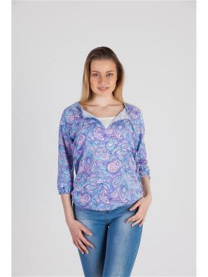 Блуза с секретом кормления Восток дизайн №3 Ням-Ням. Цвет: голубой, розовый, сиреневый