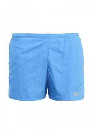 Шорты спортивные Nike. Цвет: синий