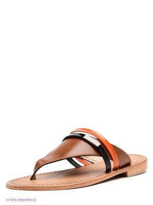 Пантолеты Les Tropeziennes. Цвет: коричневый, оранжевый, черный