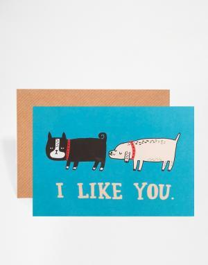 OHH DEER Открытка I Like You. Цвет: мульти