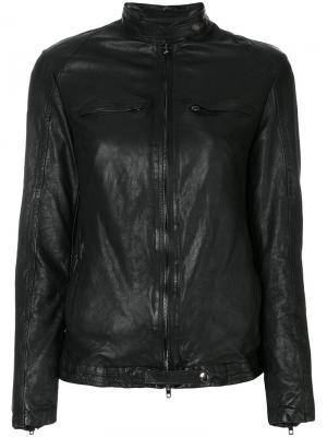 Куртка с карманами на молнии Salvatore Santoro. Цвет: чёрный