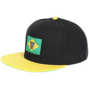 Бейсболка с прямым козырьком  Noh Brazil Snapback Cap Black/Yellow K1X. Цвет: черный,желтый