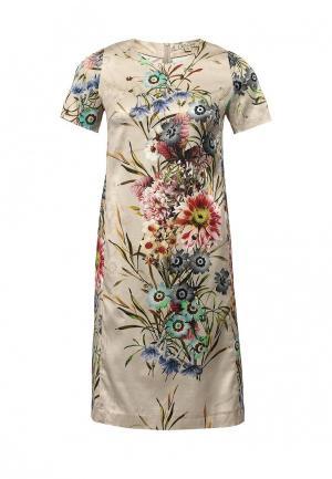 Платье Devore. Цвет: бежевый