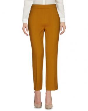 Повседневные брюки ODEEH. Цвет: верблюжий