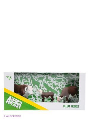 Набор фигурок Херефордские коровы MOJO. Цвет: коричневый, белый