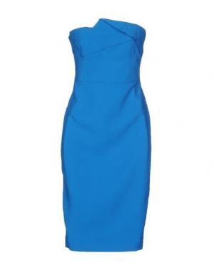 Короткое платье ROLAND MOURET. Цвет: лазурный