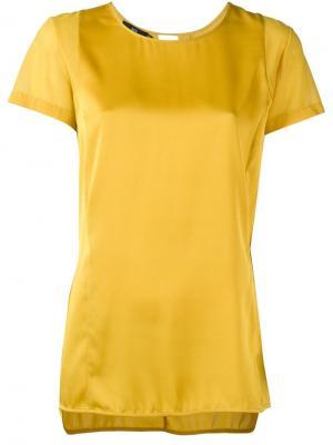 Блузка с короткими рукавами Stills. Цвет: жёлтый и оранжевый
