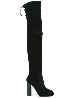 Ботфорты на каблуке Jean-Michel Cazabat. Цвет: чёрный