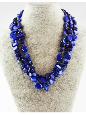 Бусы Miss Bijou. Цвет: темно-синий, индиго, синий