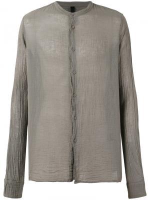 Рубашка с воротником-мандарин Poème Bohémien. Цвет: серый