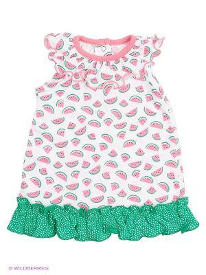Платье Avanti Piccolo. Цвет: розовый, белый, зеленый