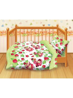 Комплект постельного белья детский бязь Кошки-мышки. Цвет: зеленый