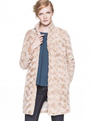 Пальто United Colors of Benetton. Цвет: кремовый, хаки, бледно-розовый