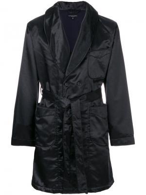 Пальто-халат с поясом Engineered Garments. Цвет: синий