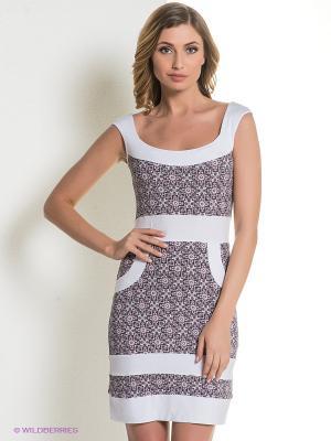 Платье Hammond. Цвет: серый, розовый
