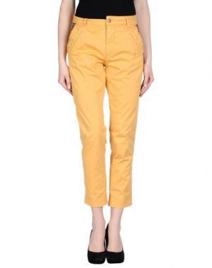 Повседневные брюки STUDS WAR. Цвет: охра