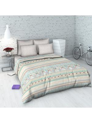 Комплект постельного белья Василиса. Цвет: бежевый