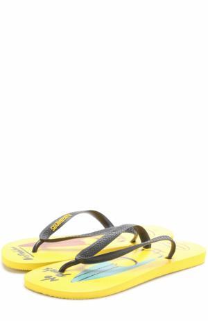 Резиновые шлепанцы Minions Havaianas. Цвет: желтый