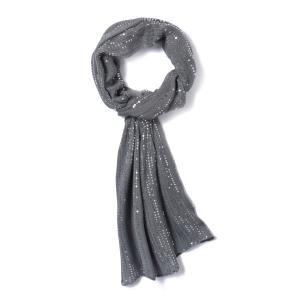 Платок в горошек и с блестками MADEMOISELLE R. Цвет: серебристый,черный
