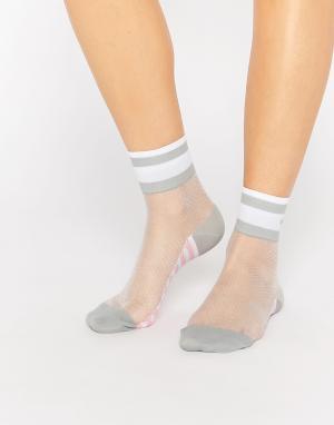 Stance Сетчатые носки с контрастными серыми вставками x Rihanna. Цвет: черный