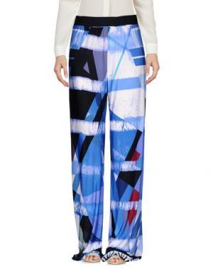 Повседневные брюки BIANCOGHIACCIO. Цвет: синий