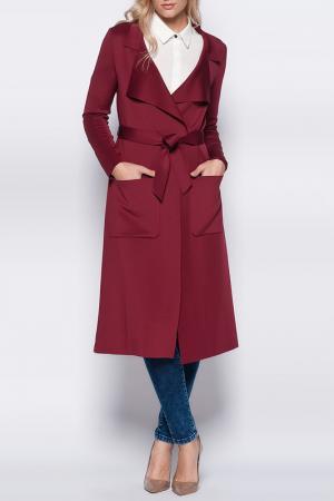 Пальто VAVIST. Цвет: красный