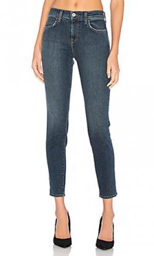Укороченные облегающие джинсы с высокой посадкой karlie baldwin. Цвет: none