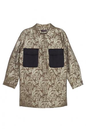 Пальто из жаккарда Chapurin. Цвет: бежевый