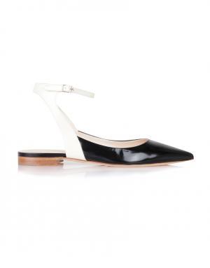 Кожаные туфли Delpozo. Цвет: черный, белый
