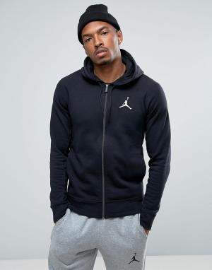 Jordan Черный худи на молнии Nike Flight Lite 822658-010. Цвет: черный