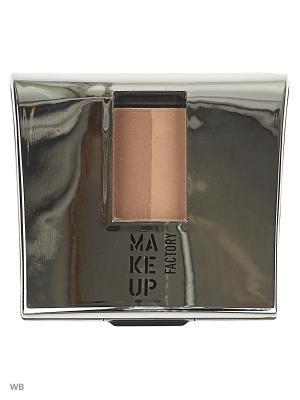 Тени-пудра Make up factory. Цвет: светло-коричневый, персиковый