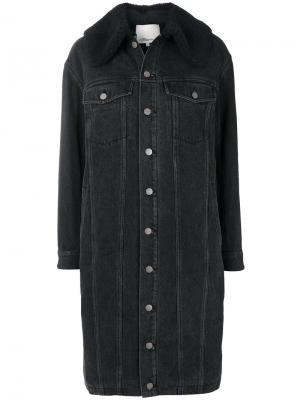 Джинсовое пальто на пуговицах 3.1 Phillip Lim. Цвет: чёрный