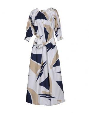 Длинное платье ALEXANDER TEREKHOV. Цвет: бежевый