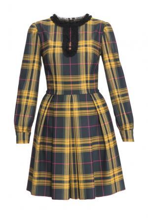 Платье из шерсти с вискозой 153071 Msw Atelier. Цвет: разноцветный