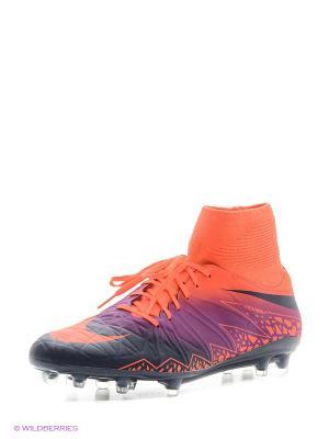Бутсы HYPERVENOM PHATAL II DF FG Nike. Цвет: оранжевый