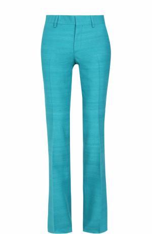 Шелковые расклешенные брюки со стрелками Bally. Цвет: бирюзовый