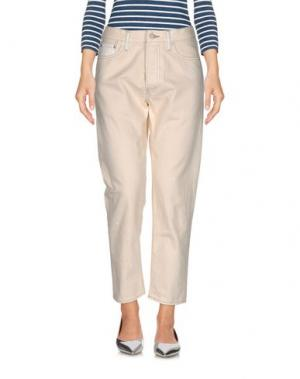 Джинсовые брюки YMC YOU MUST CREATE. Цвет: слоновая кость