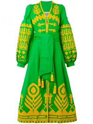 Платье Cupidon Arrows Yuliya Magdych. Цвет: зелёный