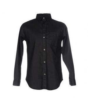 Джинсовая рубашка CURRENT/ELLIOTT. Цвет: черный