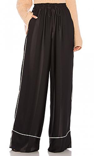 Широкие брюки broken stripe KENDALL + KYLIE. Цвет: черный