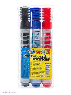 Набор маркеров для досок, 3 шт. Centrum. Цвет: серый
