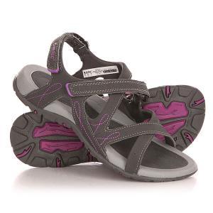 Сандалии женские  Waimea Falls Charcoal/Purple Hi-Tec. Цвет: серый