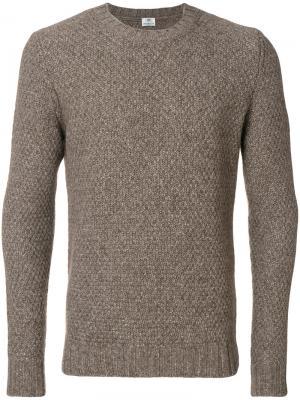 Трикотажный свитер Borrelli. Цвет: коричневый