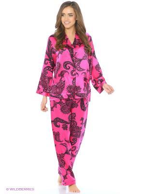 Пижама Del Fiore. Цвет: фуксия, черный