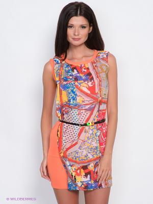 Платье EZANNA. Цвет: оранжевый