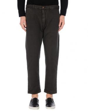 Повседневные брюки (+) PEOPLE. Цвет: темно-коричневый