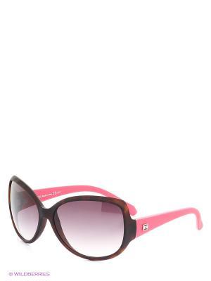 Солнцезащитные очки TOUCH. Цвет: коричневый, розовый