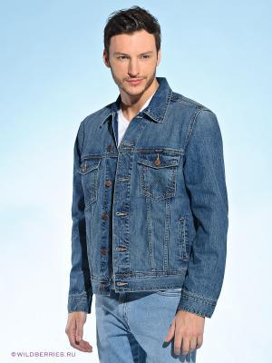 Куртка Wrangler. Цвет: синий