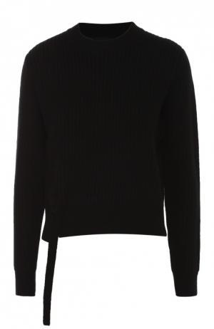 Пуловер фактурной вязки со шнуровкой Proenza Schouler. Цвет: черный